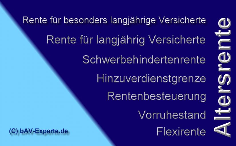 Rentenversicherung Flexirente bAV-Experte