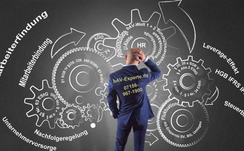bAV – betriebliche Altersversorgung im Betrieb Buchhaltung lässt grüßen