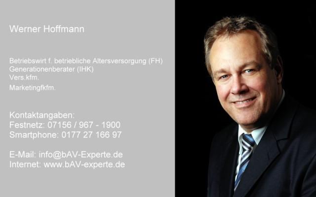 bAV-Experte - Betriebswirt für betriebliche Altersversorgung (FH) Werner Hoffmann