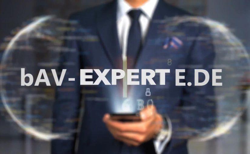 bAV-Experte Experte für betriebliche Altersversorgung www.bAV-Experte.de
