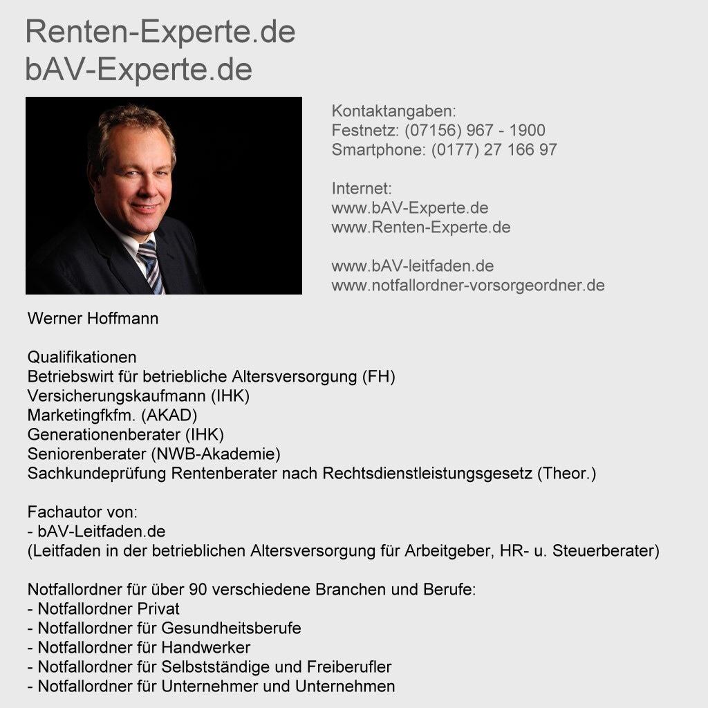 bAV-Experte - Renten-Experte
