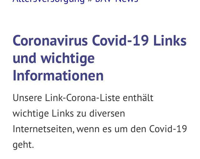 Coronavirus – Covid-19 – Informationen und Links für Arbeitnehmer, Arbeitgeber, Selbstständige und Unternehmer
